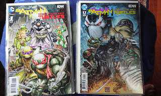 Batman/ TMNT crossover 1 and 2 complete Set