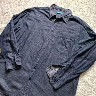 Denim style oversized shirt
