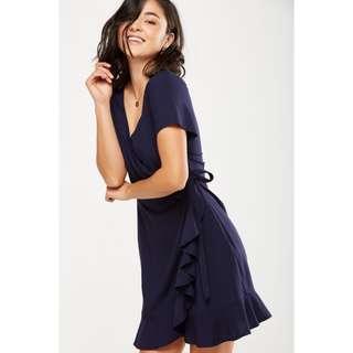 BNIP BNWT CO Woven Charli Short Sleeve Wrap Dress
