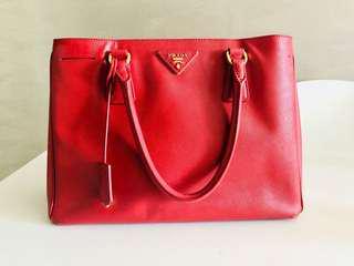 e7246d72cb Prada Lux Saffiano Executive Gardener Crossbody Cherry (Cerise) Leather