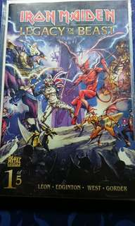 Iron Maiden Legacy of the Beast complete set of 5 issues