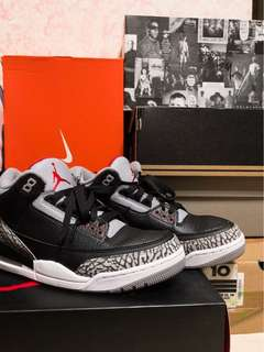 🚚 Nike air Jordan 3 OG retro us10 9.5成新