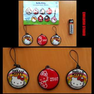 3 Units of HELLO KITTY Original Screen Cleaner/Phone Strap.