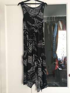 Summer Dress Black Pattern