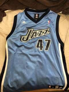 Adidas Jazz 籃球球衣 L Kirilenko 47