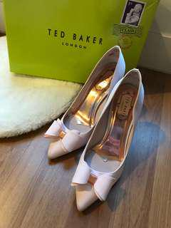 Ted Baker Pale Pink Azeline Bow High Heels Satin
