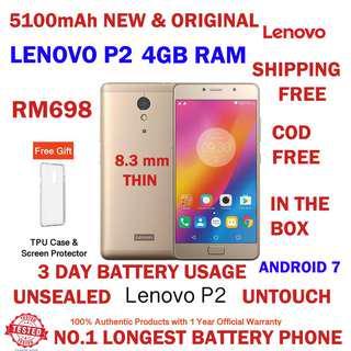 "NEW Lenovo P2 [5.5"" / 4GB RAM / 32GB ROM] Original Lenovo Malaysia"