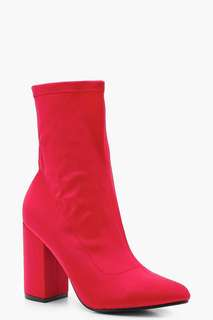 Red sock boot