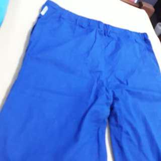COTTON PANTS ELECTRIC BLUE