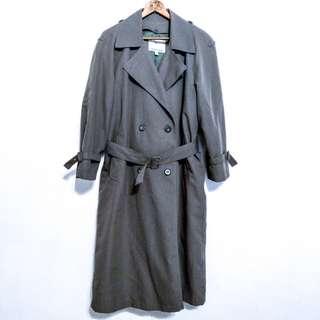🚚 London Fog 美國品牌灰綠色長版風衣 大衣