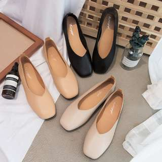 🚚 💟 PO: Plain Leather Comfy Flats (FREE NORMAL MAIL!)