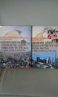 $80 for 4,9成新及全新 World History Express: International Conflicts and Threats to Peace, Growth and Development of Hong Kong 連workbook