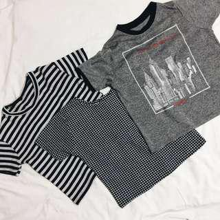 Semi-Crop Tops Bundle