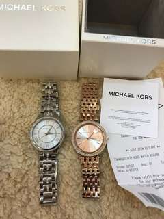Authentic with receipt ready Stock Micheal Kors women watch Tissot coach Kate Spade MK