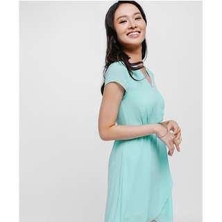 love bonito lylas wrap front dress in beryl