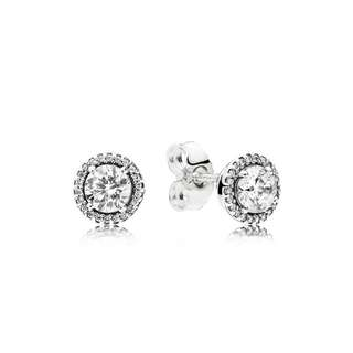8d9565a55 Authentic Pandora Earrings Classic Elegance Stud Earrings with Cubic  Zirconia 92.5 Sterling Silver Women's Earrings (
