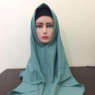 Jilbab / hijab segi 3 instan