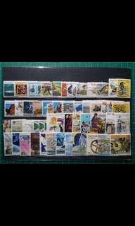 [已售七份]1970-90年代 澳洲舊票50枚