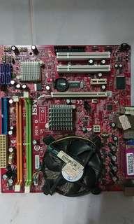 🚚 送咖啡 微星 7528 775 DDR2 PCI E 主機板 送 E4400 非 I5 I7 華碩 技嘉