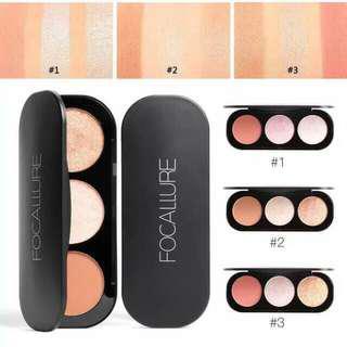 Focallure Blush On & Highlighter Palette