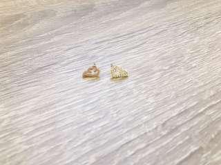🚚 金色/鑽翅膀耳針耳環