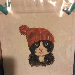 貓貓索帶布袋 cat nylon bag