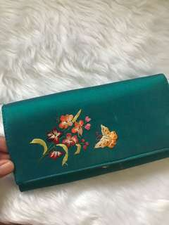 Turquoise Cloth wallet