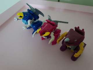 Transformers G1 Firecons set, CINDERSAUR, SPARKSTALKER, FLAMEFEATHER