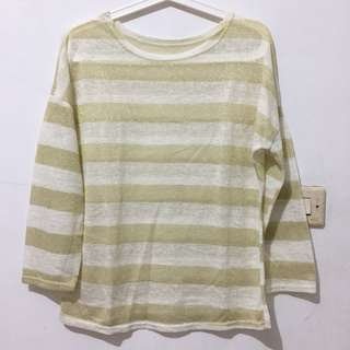 Glittery Line Sweater