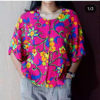 Pinky floral tshirt
