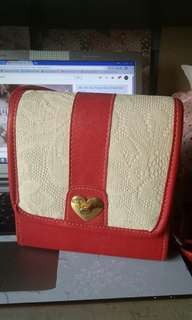 cute red handbag