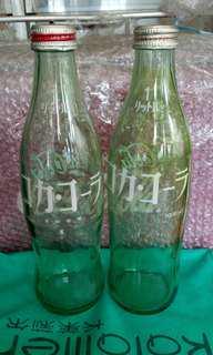 日本80年代一公升可口可樂瓶 兩個不同款