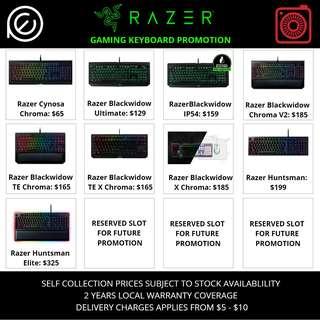 Razer Gaming Keyboard Promotion