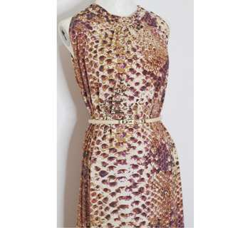 Flowy  Long Leopard  Animal Print Dress