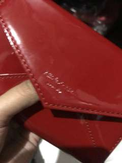 Mitch & Marc Patent Red Wallet