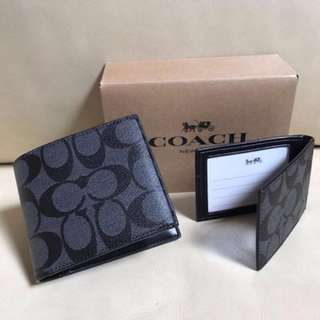 Brand new Coach Wallet classic black grey color