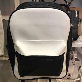 BN Riya Lady's Woman Black and White Monochrome Big School Bag Backpack
