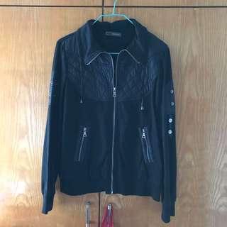 意大利 mi-tu 黑色外套 italy black jacket outerwear