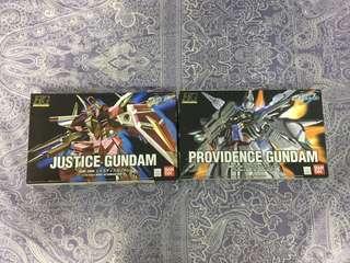 HG GUNDAM SEED 模型2隻 Justice Gundam Providence Gundam