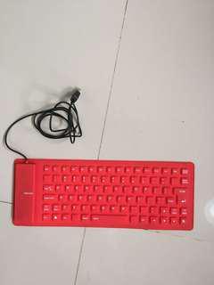 Keyboard Flexible Fleksibel Lipat