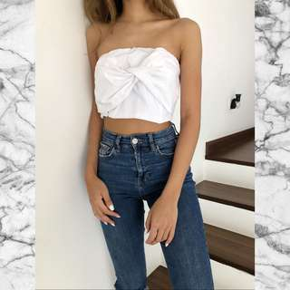 ALLY SHIRT TIE TUBE TOP