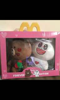 Line and friends - Brown and Cony from McDonald