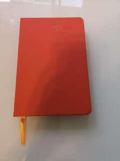Beautiful orange notebook