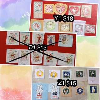 包平郵 日本卡通郵票(Disney,Sanrio,Snoopy,Moomin,Miffy,Peter Rabbit(