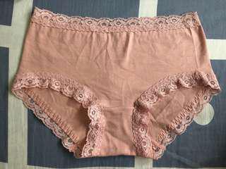 純棉柑色女底褲