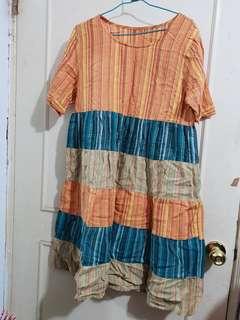 🔴私物🔴拼色條紋洋裝