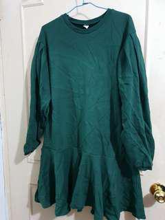 🔴私物🔴韓製墨綠色棉質魚尾洋裝