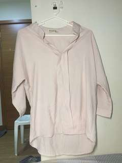 Pink short sleeves blouse