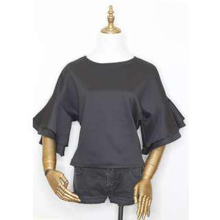 Black Neoprene Stylish blouse