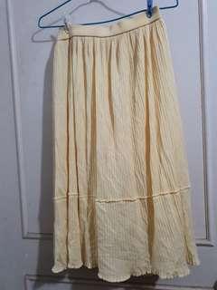 🔴私物🔴古著鵝黃色半身裙